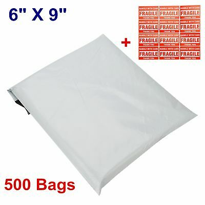 500 6x9 Poly Mailers Mailing Envelopes Plastic Bags Self Sealing