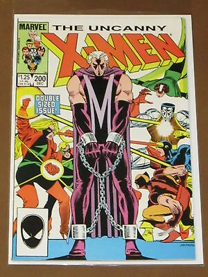 Uncanny X-Men #200 Vf/nm Trial Of Magneto New Mutants Double-Sized 1985 Rogue