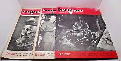 Judd's Lot of 3 Pipe Lovers Magazines - February 1949, May 1949, January 1950