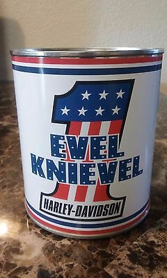 EVEL KNIEVEL # 1 - Replica Oil Can 1 qt. ( Stashcan ) - Reproduction oil can