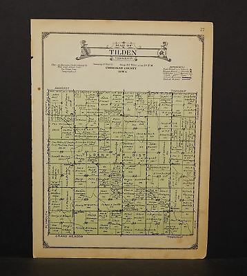 Iowa Chewkee County Map Tilden Township 1923  W14#37