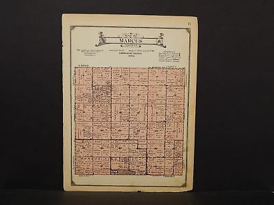 Iowa Chewkee County Map Marcus Township 1923  W14#44