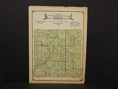 Iowa Chewkee County Map Spring Township 1923  W14#45