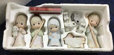 Vintage 1986 Precious Moments Enesco The Nativity Set in Original Box