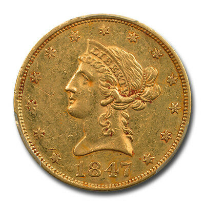 1847 $10 Liberty Head Eagle PCGS AU Details