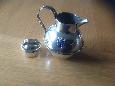 A LOVELY RARE VINTAGE SILVER PLATED JERSEY CREAMER POT MILK CHURN see details