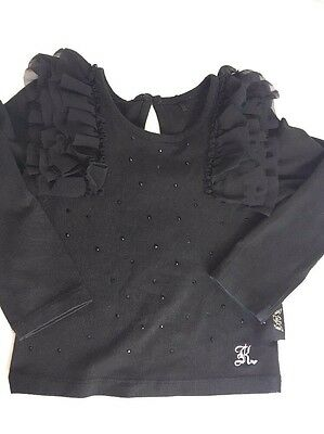 By myleene klass Baby Girl Top L/S Shirt Blouse Elegant Black 12-18 M Designer
