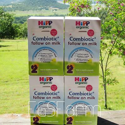 4 Boxes HIPP Organic Combiotic Follow on Milk-Stage 2-UK Version Free Shipping