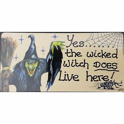 Halloween Themed Fridge  Magnet Yes the Wicked Witch Does Live Here