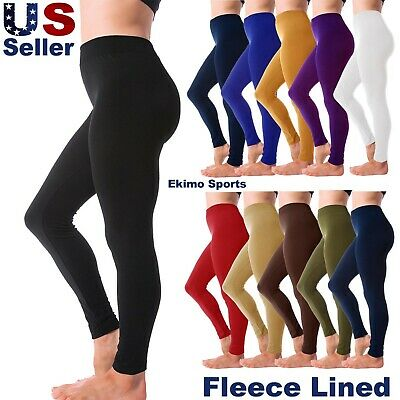 Women Fleece Lined Leggings Thick Full Length Legging Stretchy Slim Fit Pant