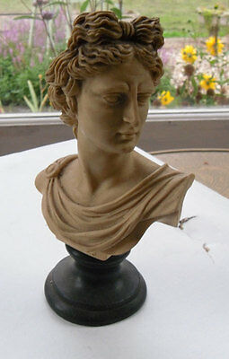 Vintage Alabaster/resin Bust Apollo G. Ruggeri, Made in Italy, c.1950s