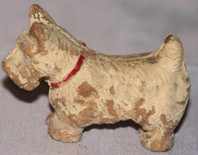 Vintage Syrocco Molded Sawdust Composition Westie Terrier Dog Toy Figurine Small