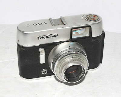 Voigtlander Vito C with 50mm f2.8 Lanthar in Pronto shutter - No Reserve