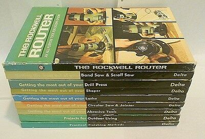 "Delta Rockwell Milwaukee set of 9 ""HOW-To"" instruction books."