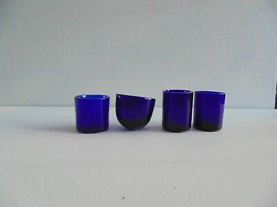 blue glass liner for silver cruet set