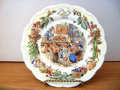 Royal Doulton Brambly Hedge Plate   2003 YEAR PLATE OF KITCHEN SCENE