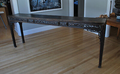Elegant Antique Chinese Soft Wood Table with Lacquer