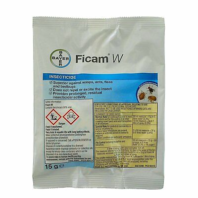 2 x BAYER Ficam W Bedbug flea cockroach insect insecticide poison pest control