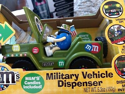 M&M Military Vehicle Dispenser M&M's Chocolate Candy Collectible