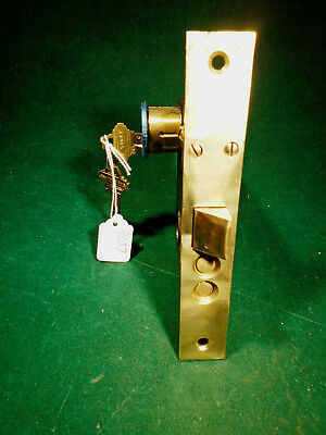 "VINTAGE CORBIN ENTRY MORTISE LOCK w/KEY  WORKS GREAT!  6 3/4"" FACEPLATE (9037)"