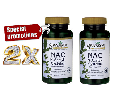 2X Swanson NAC N-Acetyl *Promotion Price *For Liver Health Immune System