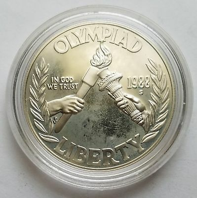 1988S Seoul Olympiad Proof Silver Dollar Commemorative 17SC003
