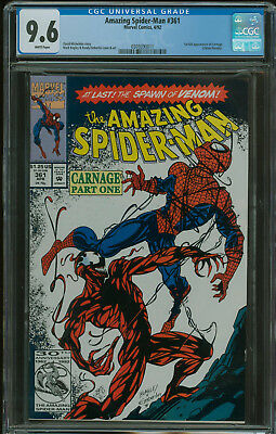 Amazing Spider-Man #361 CGC 9.6 1st appearance of Carnage 1st print
