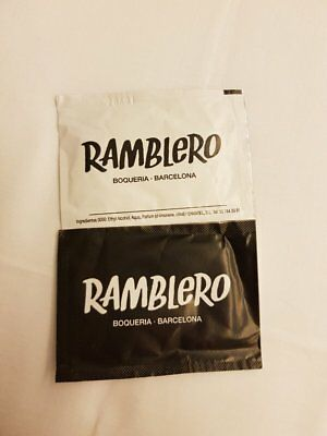 2 x Small Lemon Scented Alcohol Hand Wipes from Barcelona, Spain (Ramblero)