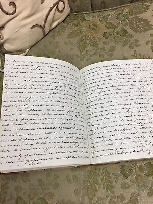 1800's Hand Written Signed Journal Diary Antique vintage 1844 Pen & Ink Rare!