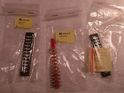 RS 2 x 12 way barrier strip and 1 x fanning strip 423-497 423-510