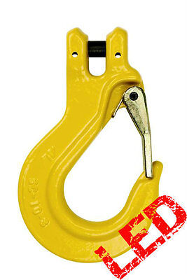 NEW industrial lifting equipment 8mm G80 Clevis Sling Hook with Safety Latch