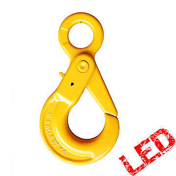 NEW industrial lifting equipment 32mm G80 Eye Self Locking Hook