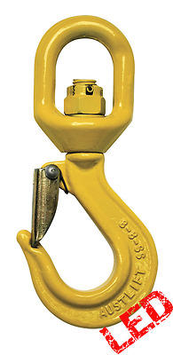 NEW industrial lifting equipment 8mm G80 Swivel Sling Hook with Safety Catch