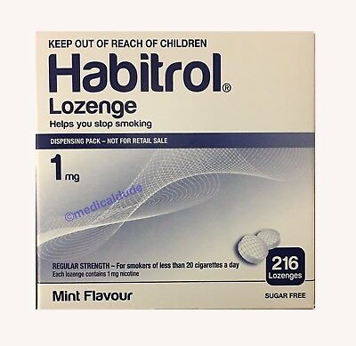 Habitrol Nicotine Lozenge 1mg Mint Flavour 216 pieces   1 Box