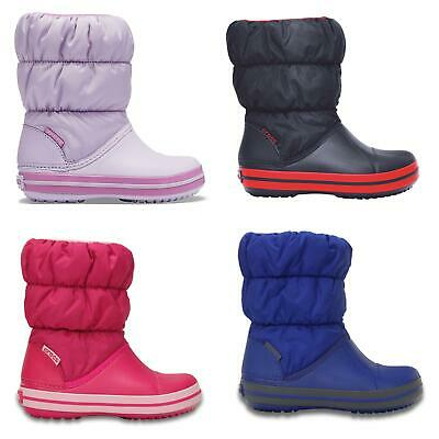Crocs Kids Winter Puff Standard Fit Boots in Blue & Pink 14613