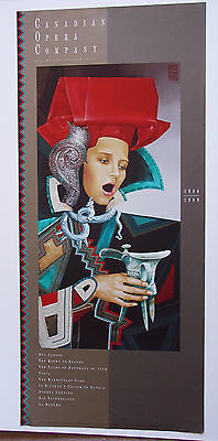 Canadian Opera Company•Official Season 1988-1989•Poster 17x38 Heather Cooper Art