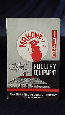 1948 MAKOMB POULTRY EQUIPMENT CATALOG..Macomb Illinois..Chicken Brood Supplies