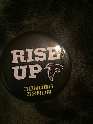 Waffle House* Falcons* Rise Up Button/pin