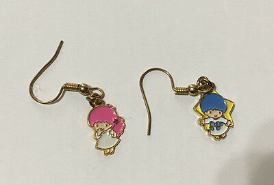 Vintage Sanrio Earrings Little Twin Stars Kiki & Lala Angels