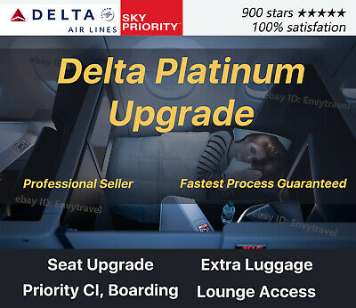 Delta Platinum Medallion Status Upgrade | Skyteam Elite Plus | Seat Upgrade