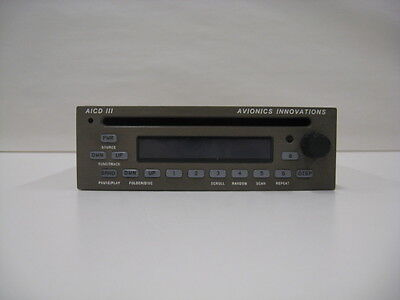 Avionics Innovations ACID III AM/FM CD Player - Certifed and Tagged.