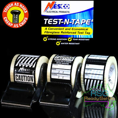 Test And Tag Labels Black Premium  Electrical Adhesive Waterproof Hard Wearing