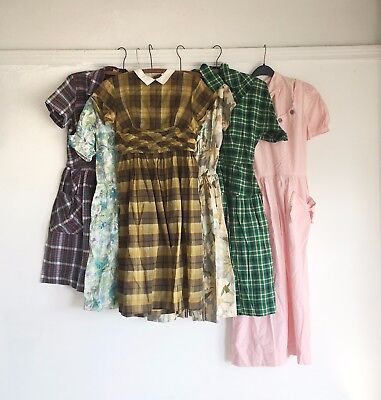 1950s DAY DRESS, LOT OF 8