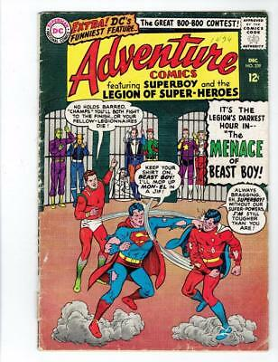 Adventure Comics #339 (DC Dec 1965) Superman Superboy SILVER AGE 12cent   GD