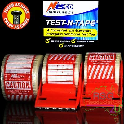 Electrical Test And Tag Labels Red Premium Adhesive Waterproof Hard Wearing