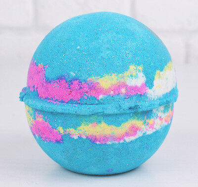 LUSH COSMETICS INTERGALACTIC BATH BOMB peppermint and neon colour popping candy