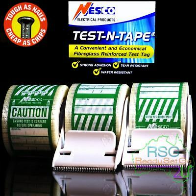 Electrical Test And Tag Labels Green Premium  Adhesive Waterproof Hard Wearing
