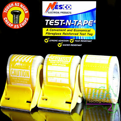 Electrical Test And Tag Labels Yellow Premium Adhesive Waterproof Hard Wearing