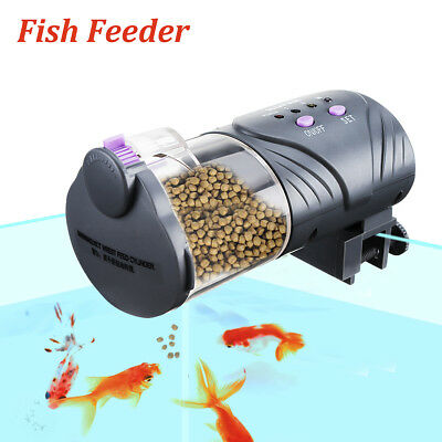 Auto Fish Food Feeder Tank Pond Aquarium Intelligent Timing Koi Goldfish Feeding