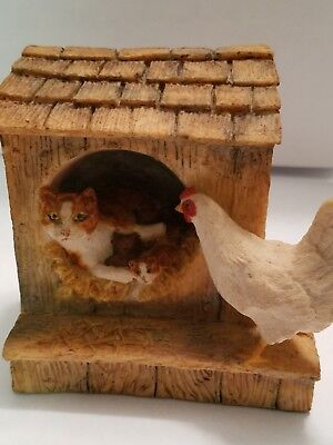 Schmid border fine arts chicken lot hand crafted and hand painted in Scotland 19